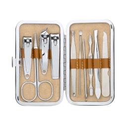 Manikyrset 10-delar | Nagelvård | Nagelverktyg | Reseset