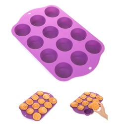 Muffinsform - Silikonform - Bakform - Muffins  Lila