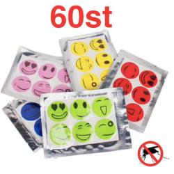 Myggavvisande klistermärken 60st - Mosquito Repellent Stickers multifärg