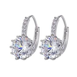 Örhängen - Glittrande ringar diamant Silver / Guld Guld