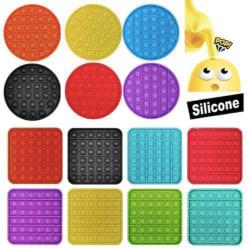 Pop it Fidget Toy Bubble Sensory Fidget Toy / Leksak- CE Blue Rund - Blå