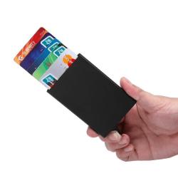 Pop-Up Korthållare -  Aluminium fodral - (RFID-Säker) Silver