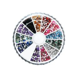 Rhinestone hjul 1500st 2mm glittrande sten 12 färger multifärg