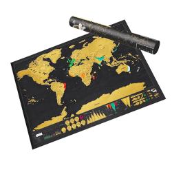 Scratch map , Skrapkarta - Världskarta