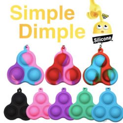 Simple dimple, MINI Pop it Fidget Finger Toy / Leksak- CE Blå - Lila - Rosa