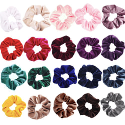 Stora Velvet hair Scrunchies, hårsnoddar , hårband , Hair bands  Gul