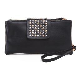 Väska plånbok/handväska Nitband ombloggad nitar/clutch mode Svart