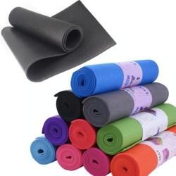 Yoga mat / yoga matta - 6mm - 173cm * 61cm  Svart