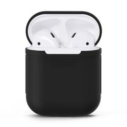 Apple AirPod Silikonfodral / Silikonskal Svart
