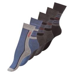 Bomullssockor Jeans Style 5-Pack Svart/Grå/Blå 39-42