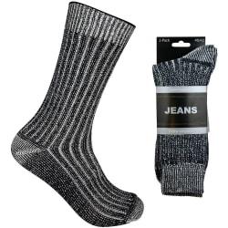 Arbetsstrumpor Jeans 6-Pack Grå 43-45