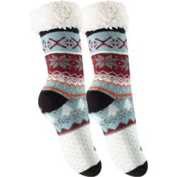 2-Pack Mysiga och varma strumpor med halkskydd Vit/Svart 36-42