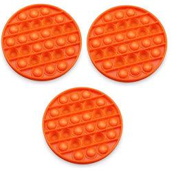 3 Pack Pop It Fidget Toys Orange