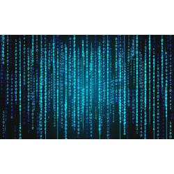 Fototapet blue matrix 350x260cm