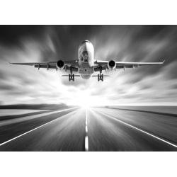 Fototapet Flygplan svartvit 350x260cm