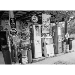Fototapet Route 66 svartvit 350x260cm