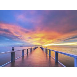 Fototapet solnedgång brygga 350x260cm