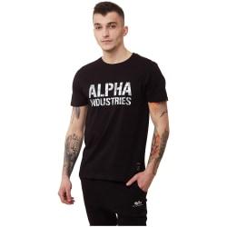 Alpha Industries Camo Print Tshirt Svarta 193 - 197 cm/XXL