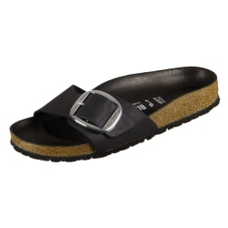 Birkenstock Madrid Big Buckle Black Natural Leather Svarta 39