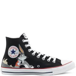 Converse X Bugs Bunny Chuck Taylor All Star High Svarta,Gråa 42