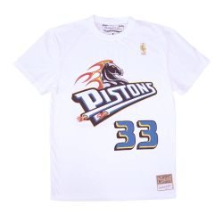 Mitchell & Ness Nba Detroit Pistons Grant Hill Name Number Vit 193 - 197 cm/XXL