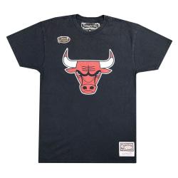 Mitchell & Ness Worn Logo Tee Chicago Bulls Svarta 173 - 177 cm/S