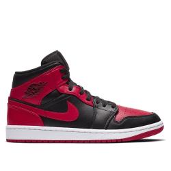 Nike Air Jordan 1 Mid Svarta,Körsbär 45