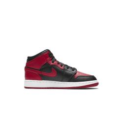 Nike Jordan 1 Mid Banned 2020 GS Svarta,Röda 36.5