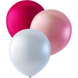 """27-pack Rosa, Ljusrosa och Pärlemorvit - 30 cm (12"""")  multifärg"""