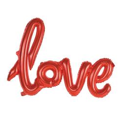 Ballong med texten LOVE i skrivstil Röd