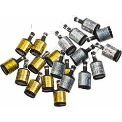 Party Poppers Guld och Silver 16-pack  multifärg