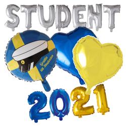 Student Party ballonger Studentfirande | Studentfest | Examen multifärg