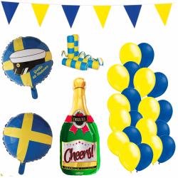 Ballonger | Dekorationer till Studenten 2021 | Partypaket multifärg