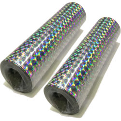 Serpentiner silver holografiska 2-pack  Silver