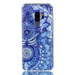 Blått mönstrat skal- till Samsung Galaxy S9 Plus  multifärg