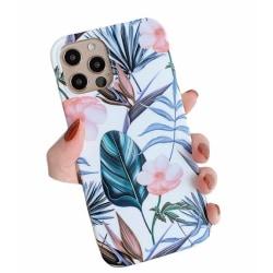 Blommor- skal till iPhone 12 / 12 PRO  multifärg