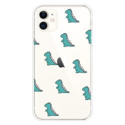 Dinosaurier- skal för iPhone 11  Transparent
