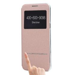Fodral med Call-ID & Svara funktion- Samsung Galaxy S8 Rosa