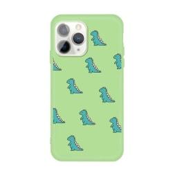 Grönt skal med mini dinosaurier- för iPhone 11 PRO MAX Grön