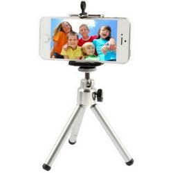 Ihopfällbar roterbart kamerastativ för mobiler Silver