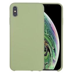 iPhone X/XS- Silicone Case - Mobilskal i silikon och fiberduk  Grön