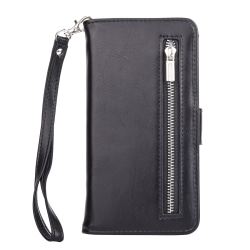 iPhone Xs MAX - Plånbok med magnetskal Svart