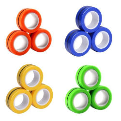 Magnetringar- Fidget Toys (3-pack) Blå