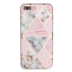 Marmor skal med mönster-  för iPhone 8 plus Rosa