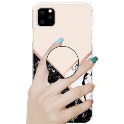 Marmor skal med smart knapp för iPhone 11 PRO MAX Rosa