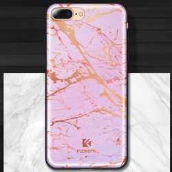 Marmor Sten-skal för iPhone 8 plus Rosa