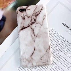 Marmor Sten TPU-skal för iPhone 8 plus Vit