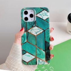 Mönster med marmor- skal till iPhone 12 / 12 PRO  Grön