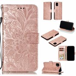 Mönstrad rosa plånbok för iPhone 11 Pink