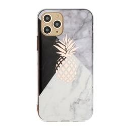 Mönstrat marmor med ananas- skal för iPhone 11 PRO MAX multifärg